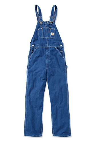 Carhartt R07 Washed Denim Overall - Arbeitsoverall,Darkstone,34W / 32L