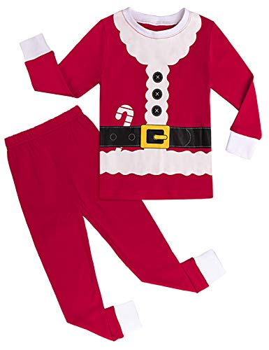 mintgreen Pijama Navidad Bebé Disfraz Papá Noel Niño Manga Larga Unisexo (Santa Claus, 2 años)