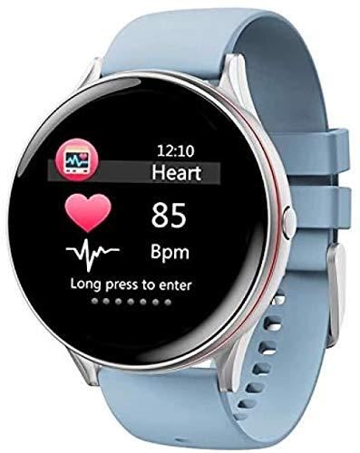 Reloj inteligente para mujer, monitor de ritmo cardíaco, rastreador de fitness, pulsera impermeable, reloj inteligente para banda inteligente (color verde)