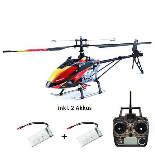 efaso Helikopter WLToys V913 - 2,4 GHz, 4-Kanal Single Blade Hubschrauber mit LCD Display an der Fernsteuerung, Alu-Chassis und hoher Windresistenz - inkl. 2 Akkus
