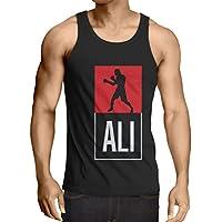 Camisetas de Tirantes para Hombre Boxeo - en el Estilo de Lucha para Entrenamiento, Deportes, Ejercicio, Funcionamiento, Ropa de Fitness (XX-Large Negro Multicolor)