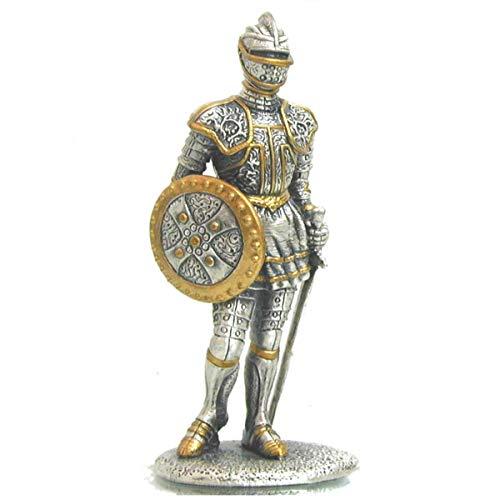 Zinn-Ritter stehend mit Schild und Schwert si-gd (Zinn)