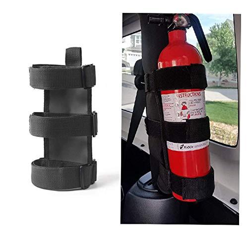 Adjustable Roll Bar Fire Extinguisher Mount Holder 3 lb for Jeep Wrangler Unlimited CJ YJ LJ TJ JK JKU JL JLU 1953-2021