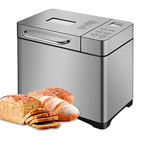 Máquina de pan automática, 17 programas personalizados, Retraso de operación inteligente de 15 horas, Sistema de conservación de calor de 1 hora Máquina de pan