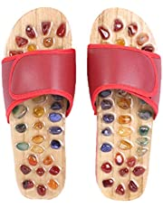 ULTNICE Acupressure Massage Slippers with Stone Foot Massage Slippers Sandals for Women Men