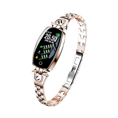 Runfon Pressione Tracker Banda di Smart Watch H8 Intelligente Bracciale Impermeabile Intelligente Orologio da Polso cardiaca Sangue Tracker Fitness per Le Donne Oro