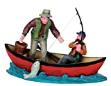 Lemax - Canoe Catch - Angler im Boot - Polyresin - Figuren & Zubehör für die eigene kleine Weihnachtswelt