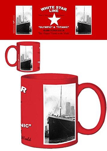 1art1 Titanic, White Star Line Olympic Y Titanic Taza Foto (9x8 cm)...