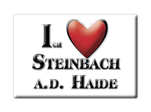 Enjoymagnets Steinbach A.D. HAIDE (by) Souvenir Deutschland Bayern Fridge Magnet KÜHLSCHRANK Magnet ICH Liebe I Love