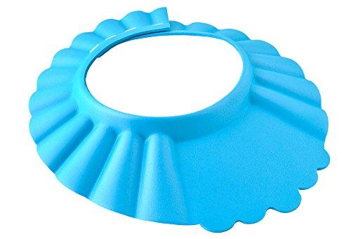 ISO TRADE Duschhaube Kinder Badekappe Verstellbar 13-15cm Ohr- und Augenschutz Universal 1835, Farbe:Blau/ Blue
