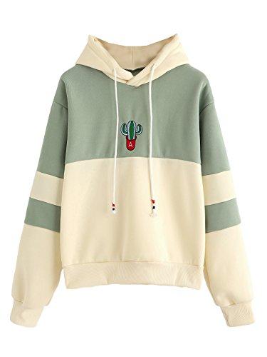 Product Image of the SweatyRocks Women's Long Sleeve Colorblock Pullover Fleece Hoodie Sweatshirt...
