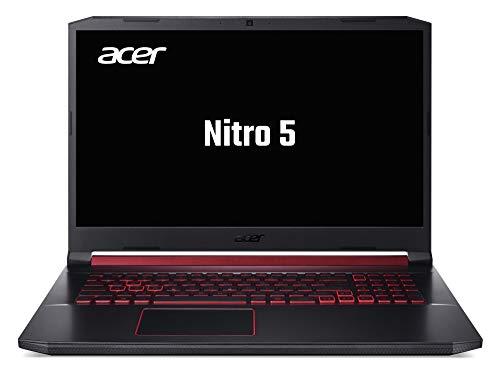 Acer Nitro 5 (AN517-51-764G) 43,9 cm (17,3 Zoll Full HD IPS 120 Hz matt) Gaming Laptop (Intel Core i7-9750H, 16 GB RAM, 512 GB PCIe SSD, NVIDIA GeForce RTX 2060, Win 10 Home) schwarz/rot