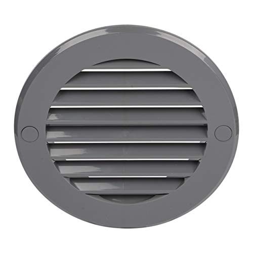 HVAC OV 4 Inch Round Air Vent ABS Louver Grille Cover Gray Soffit Vent