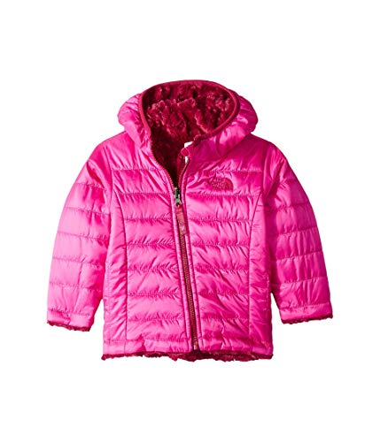 The North Face Infant Reversible Mossbud Hoodie - Azalea Pink & Dramatic Plum - 3M