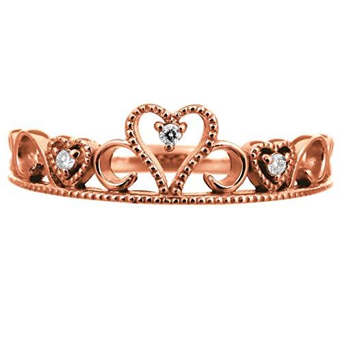 [ココカル]cococaru ハート リング 指輪 レディース ダイヤ ダイヤモンド 10金 10k K10 ゴールド イエローゴールド ピンクゴールド ホワイトゴールド ギフト 贈り物 記念日 プレゼント 日本製(ピンクゴールド 14)