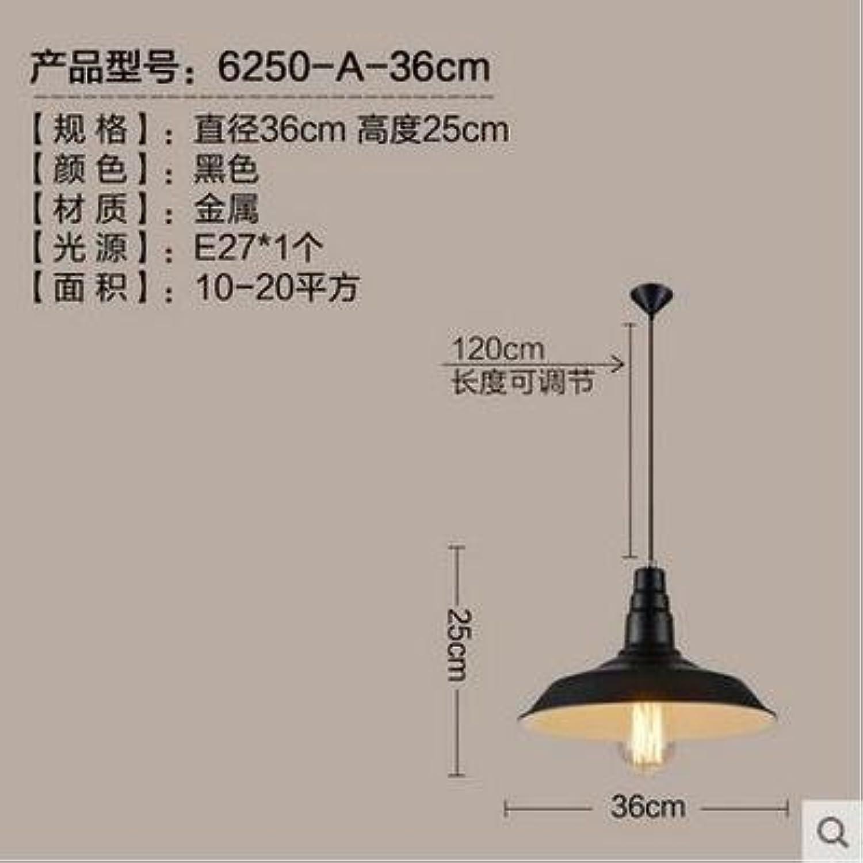 LuckyLibre Pendentif mode moderne de création d'éclairage Lampe Lustre Chambre Salon cuisine,un noir 36cm