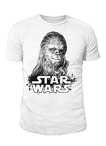 Star Wars - Krieg der Sterne Herren T-Shirt - Chewbacca (Weiss) (S-XL) (M)