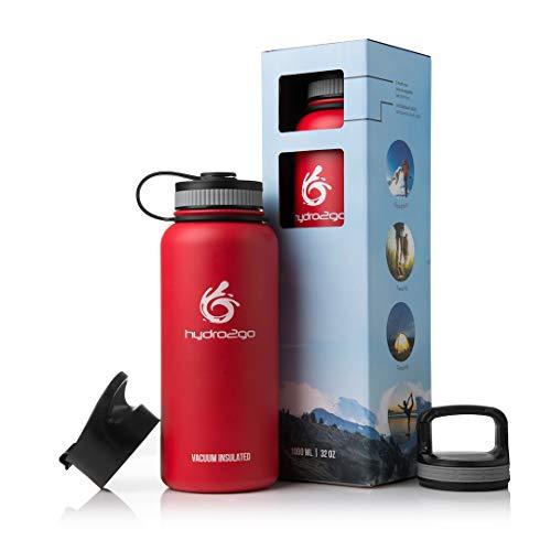 Edelstahl Trinkflasche 'X-AlpsBottle' 1l | Thermosflasche + 3 Trinkverschlüsse | Auslaufsichere Isolierflasche | Outdoor Sportflasche | Thermoskanne - BPA Frei | Isolierkanne, Thermotrinkflasche