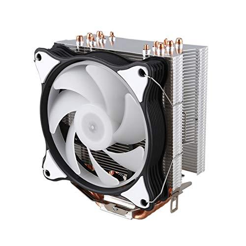 Radiador del ventilador Radiador de la CPU 6 de cobre puro 12cm Heat Pipe Torre de refrigeración Sistema de refrigeración de la CPU 12cm ventilador de refrigeración es adecuado for AMD CPU del radiado