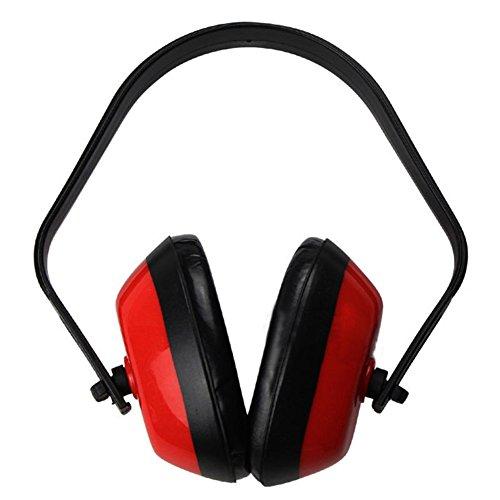 Gemini_mall® Gehörschutz für Erwachsene und Kinder, bequemer Sicherheits-Ohrenschützer, Gehörschutz mit Kopfband für Schießen, Bau, Lesen oder Hofarbeit (rot)