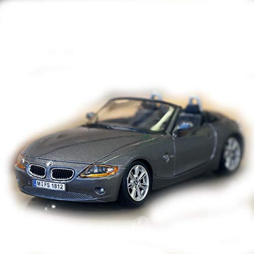 1:24 Escala para BMW Z4 Aleación De Aleación Aleación De Automóviles Vehículo De Lujo Diecast Cars Model Toy Collection Regalo (Color : Gray, Size : 1)