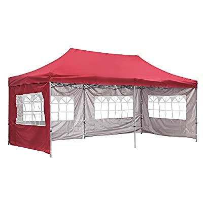 10x20 ft EZ Instant Pop up Canopy Carport,Party Tent Folding Gazebo with Removable Sidewalls and Wheeled Bag Waterproof