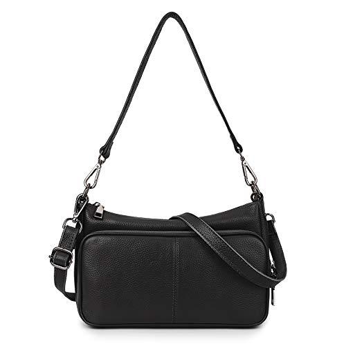 Yaluxe Crossbody-Bag-for-Women Genuine Leather Fashion Shoulder Handbags Straps