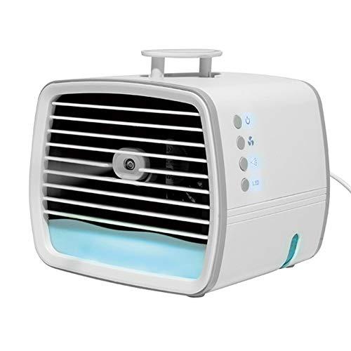 Mini Refrigeratore d'Aria, Refrigeratore d'Aria USB, Mini Condizionatore Portatile, Ventilatore/Umidificatore/Condizionatore, per Ufficio, Casa, Scrivanie, Stanze