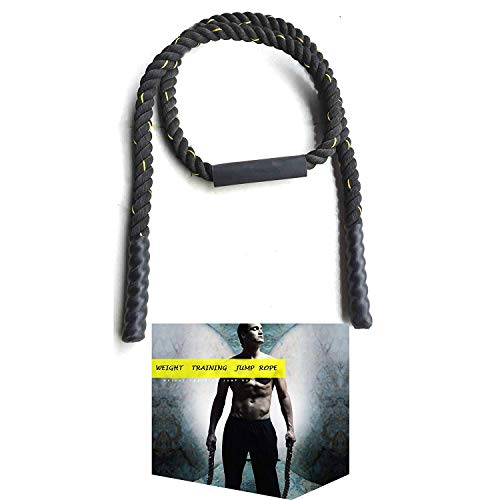 Tonyko Heavy Jump Rope, Weighted Jump Rope (Black(1in×10ft))