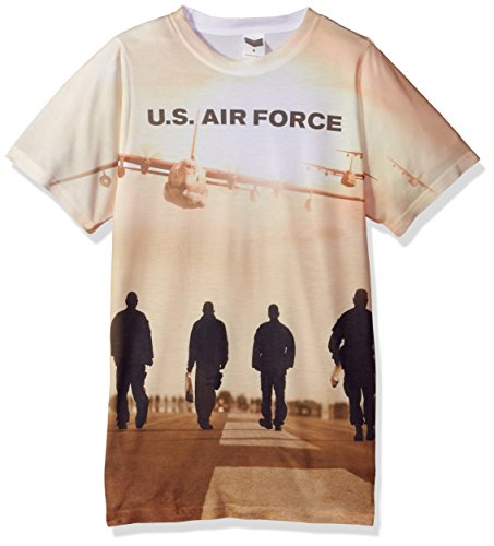 Air Force - Long Walk Homme (Front / Back Imprimer) T-shirt -, Large, Sublimate White