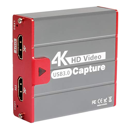 TreasLin 4K Capture Card USB3.0,Game Capture Card 4K@30FPS Live Streaming...