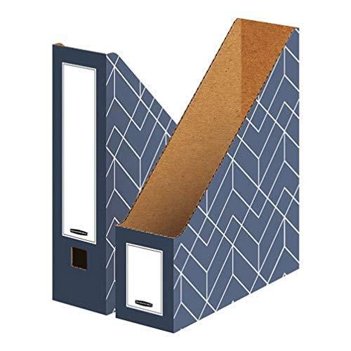 Bankers Box Stående samlare A4, Décor-serie för kontor och hem, 100 mm ryggrad, tillverkad av 100% återvunnen wellpapp, färg/motiv: skifferblå, 5 stycken