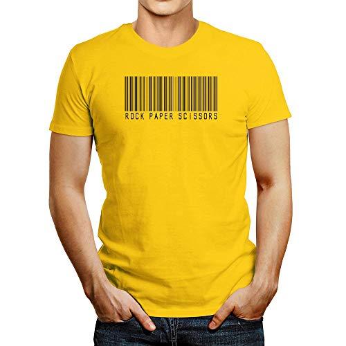 Idakoos Rock Paper Scissors Barcode Camiseta - amarillo - Medium