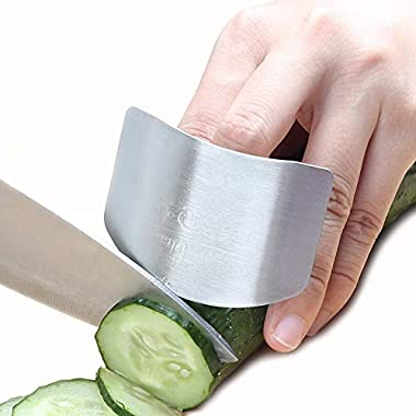HaloVa Stainless Steel Finger Guard, Finger Protector Hand Guard Avoid Hurting When Slicing and Dicing, Kitchen Safe Chop Cut Tool