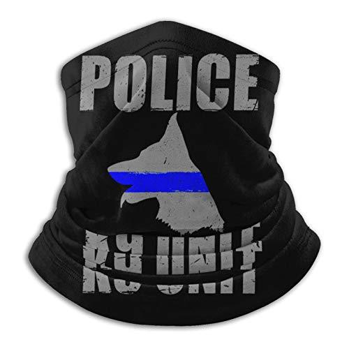Police K9 Thin Blue Line 01 Soft Winter Fleece Neck Gaiter for Man Womans