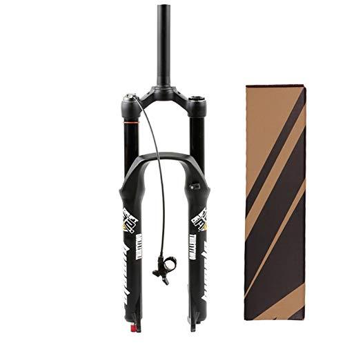 ZPPZYE 160 mm Horquillas Amortiguadoras MTB 26 Pulgadas 27,5' Control Remoto 1-1/8' Horquilla de Tubo Recto Bicicleta 29ER Horquilla de Suspensión (Color : B, Size : 29 Inch)