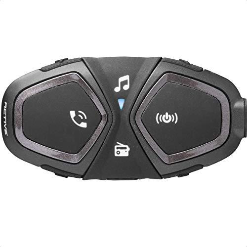 Interphone INTERPHOACTIVE Bluetooth-Kommunikationssystem für Motorräder, schwarz, Single