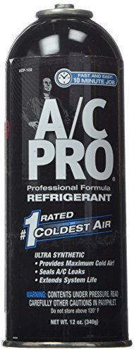 InterDynamics AC Pro Car Air Conditioner R134A Refrigerant, Reusable AC Recharge Kit, 12 Oz, ACP102-6