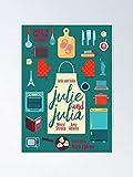 AZSTEEL Julie and Julia Minimalist Movie Poster Meryl