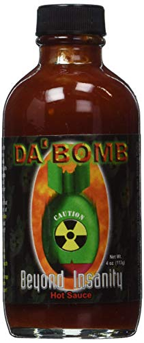Da Bomb Hot Sauce, Made with Habanero and Chipotle Peppers, Original Hot Sauce, Gluten Free, Keto, Sugar Free, Made in USA (Insanity, Pack of 1)