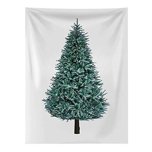 Enjoyyouselves Tapiz de pared con árbol de Navidad, de pino, para colgar en la pared, tela de fondo pequeño y fresco