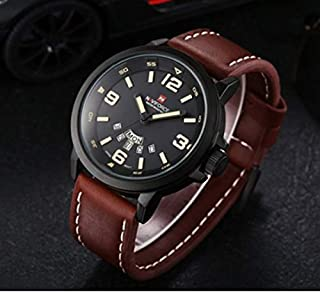 Watch for Men by Naviforce, Brown Leather Band, Quartz, NF9028M