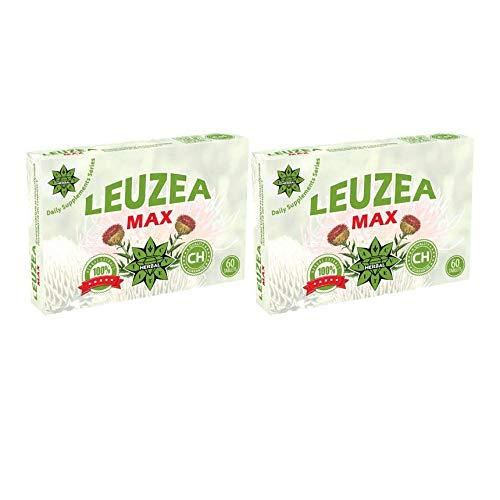 Cvetita Herbal, Leuzea Carthamoides Ecdysteron natürlicher Kräuterextrakt | Kraft | Ausdauer | Muskelkraftstoff & anabolischer Lean | Muskel- & Masse- & Kraftzuwachs | Muskelwachstumsaktivator