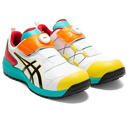 [限定色] 安全靴 アシックス asics スニーカーウィンジョブ FCP307 Boa 27.0 104ホワイト×ブラック