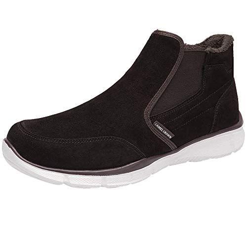 CAMEL CROWN Botas Nieve Hombre Impermeables, Botines Hombre Invierno Calzado Trekking Botas Chelsea para Hombre Zapatillas Casuales Zapatos Hombre