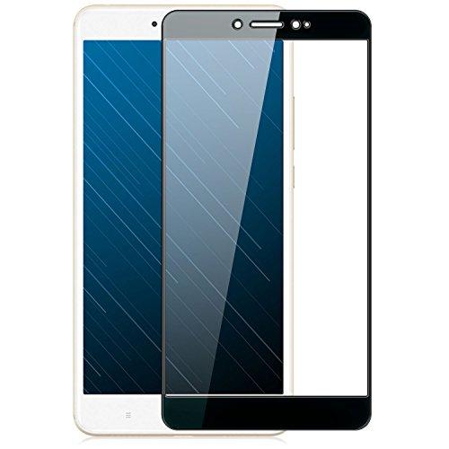 zanasta Bildschirmschutz Xiaomi Mi Max 2 Schutzfolie aus gehärtetem Glas [Vollständige Abdeckung] Hartglas, Anti-Kratzer Screen Protector (3D Full Cover/gebogen) Schwarz