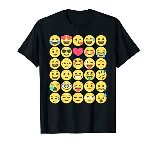 Emoji emoticons smiley shirt for kids and silly adults