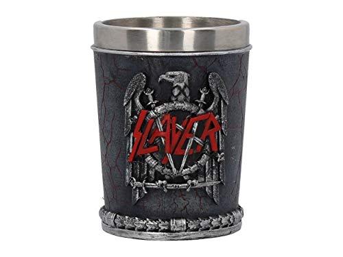 Weird Or Wonderful Slayer Schnapsglas 7 cm – Offiziell lizenziertes Geschenk Box Heavy Thrash Metal Rock and Roll Spirits Whisky Scotch Wodka Drink Sammlerstück Nemesis Now Adler Schwerter