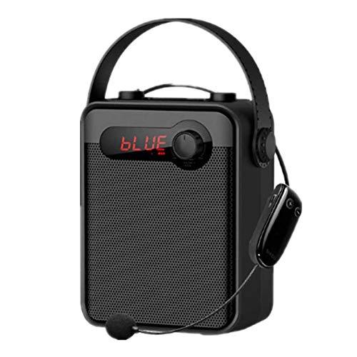 Adesign Amplificatore vocale, sistema di altoparlante portatile ricaricabile 25W 2000mAh con microfono Auricolare, registrazione, USB & TF Card Play, per promozione, aula, riunioni, all'aperto, insegn