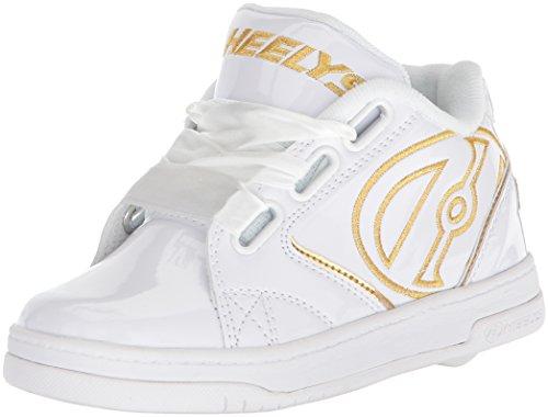 Heelys Mädchen Propel 2.0 Sneaker, Weißgold-Satin, 33 EU